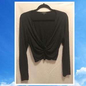 Size Large Karen Kane Black Knit Top Cute